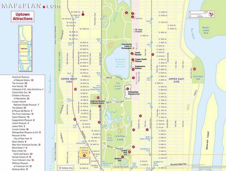 Free Printable Map Of Manhattan