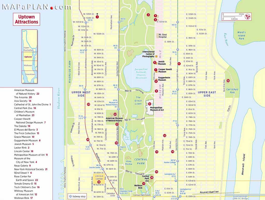 Maps Of New York Top Tourist Attractions - Free, Printable - Free Printable Map Of Manhattan