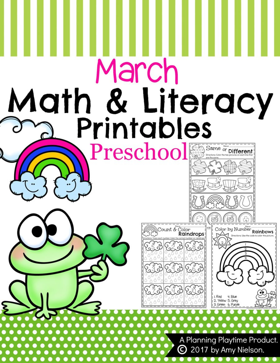 March Preschool Worksheets - Planning Playtime - Free Printable March Activities