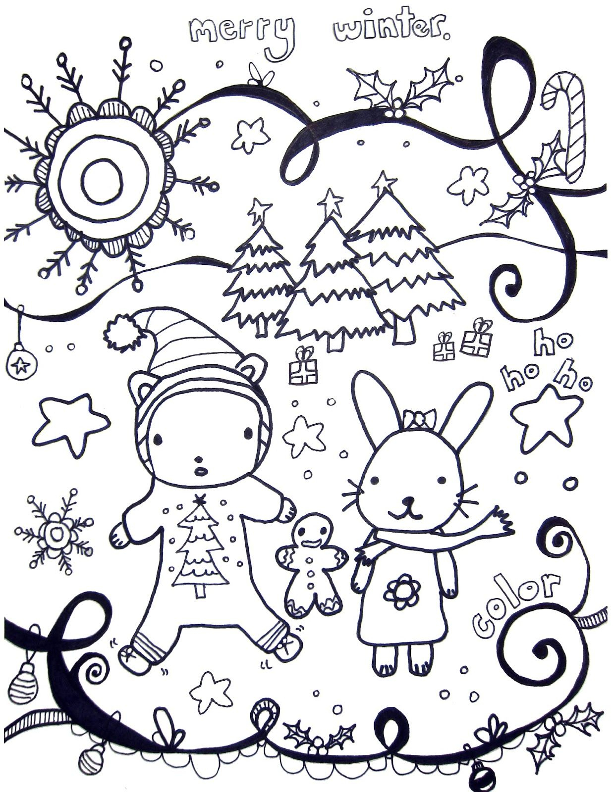 Marcia Beckett: Printable Winter Coloring Pages | Coloring Pages - Free Printable Winter Coloring Pages