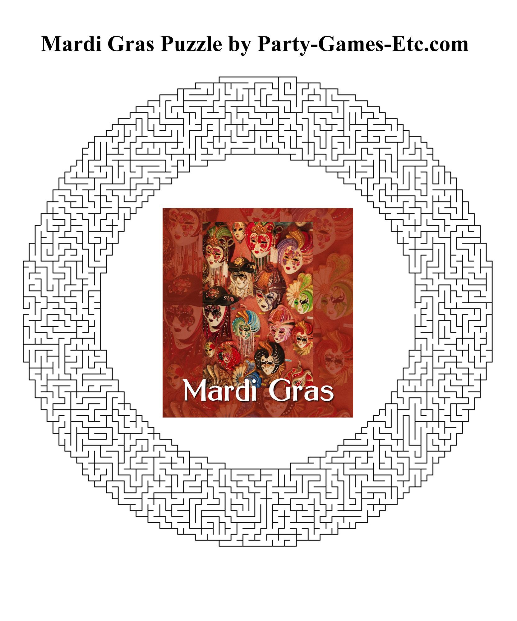 Mardi Gras Party Games, Free Printable Games And Activities For A - Free Printable Mardi Gras Games