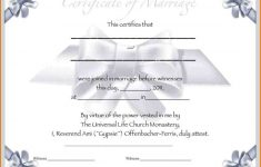 Marriage Certificate Template Free Images – Free Certificates For All – Free Printable Wedding Certificates