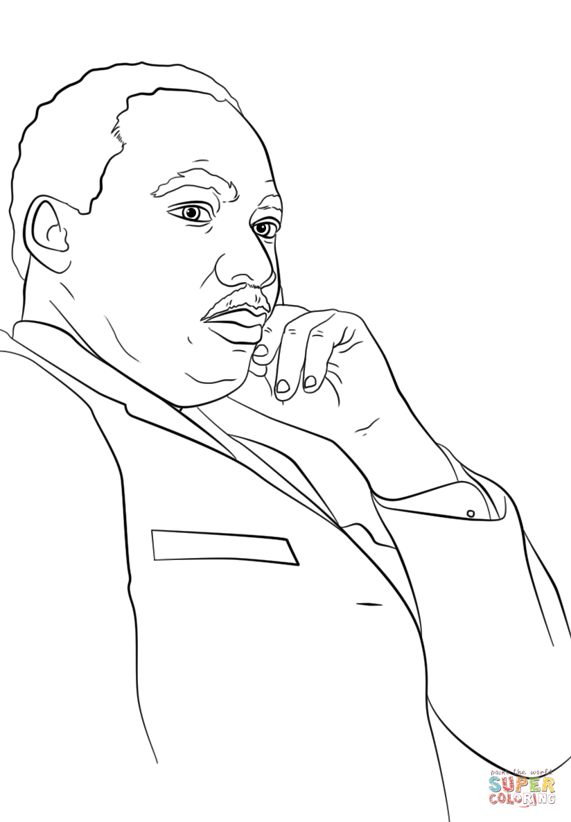 Martin Luther King, Jr. Coloring Page | Free Printable Coloring Pages - Martin Luther King Free Printable Coloring Pages