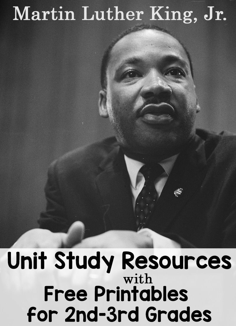 Martin Luther King, Jr. Unit Study Resources With Free Worksheets - Free Printable Martin Luther King Jr Worksheets