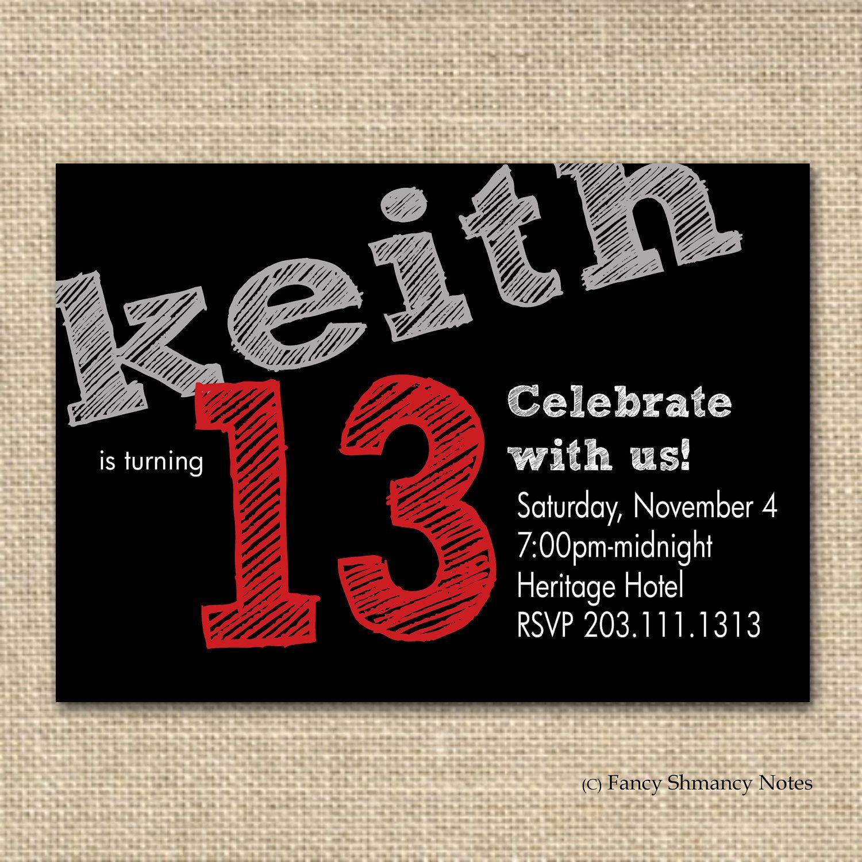 Marvellous Free Printable 13Th Birthday Boy Invitations Especially - 13Th Birthday Party Invitations Printable Free