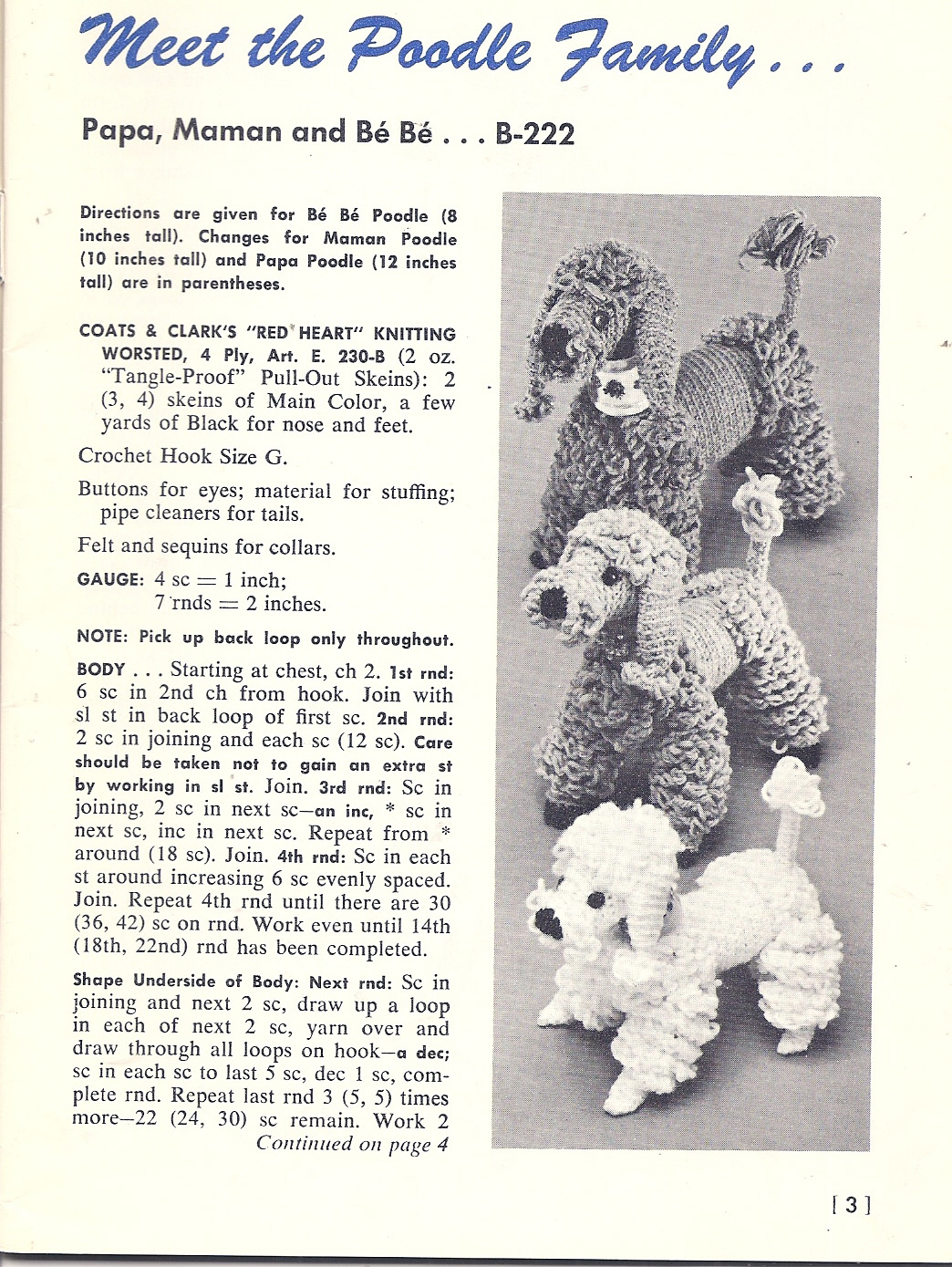 Marvelous Poodles To Knit And Crochet – Free Patterns - Free Printable Poodle Template