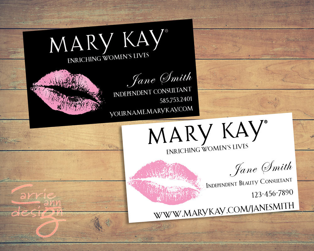 Mary Kay Business Cards Printable Lips Pink Custom | Etsy - Free Printable Mary Kay Business Cards