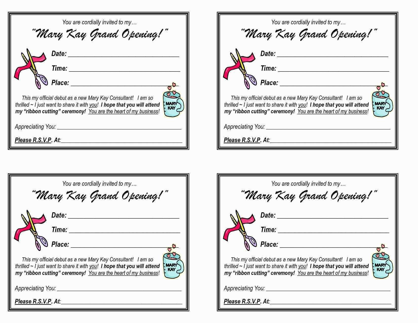 Mary Kay Invitation Templates Unique Mary Kay Invitation Templates - Mary Kay Invites Printable Free