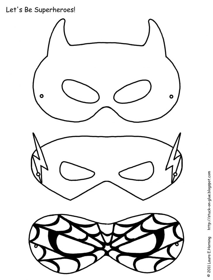 Superman Mask Printable Free
