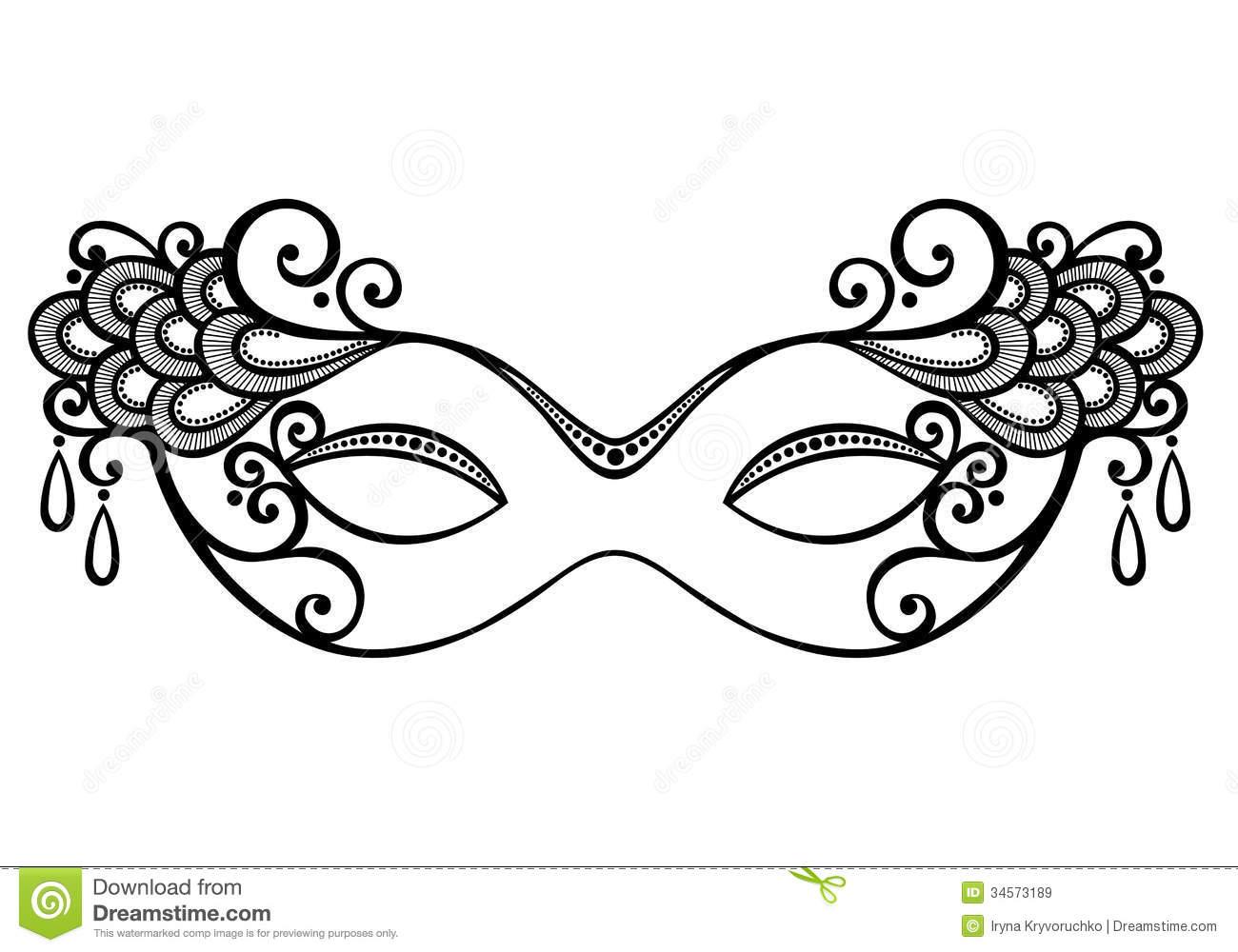 Masquerade Mask Stock Vector. Illustration Of Decor, Illustration - Free Printable Masquerade Masks