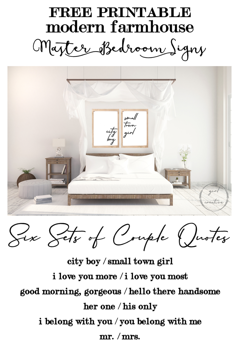 Master Bedroom Signs For Above The Bed - The Girl Creative - Free Printable Bedroom Door Signs