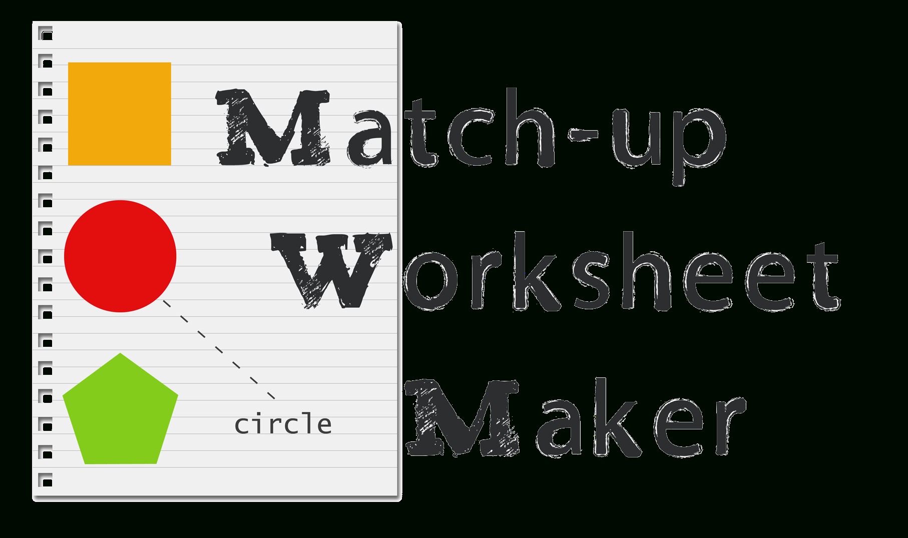 Matching Worksheet Maker: Create Custom Printable Worksheets - Make Your Own Worksheets Free Printable