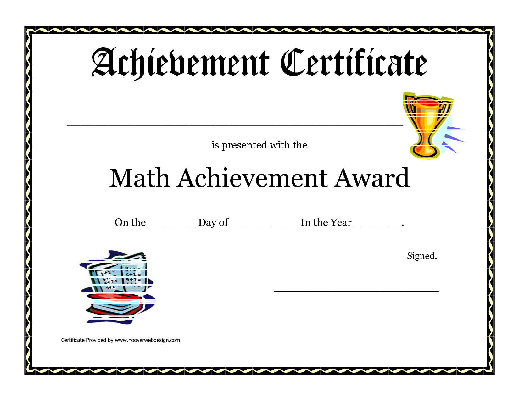 Math Achievement Award Printable Certificate Pdf | Math Activites - Free Printable Award Certificates For Elementary Students