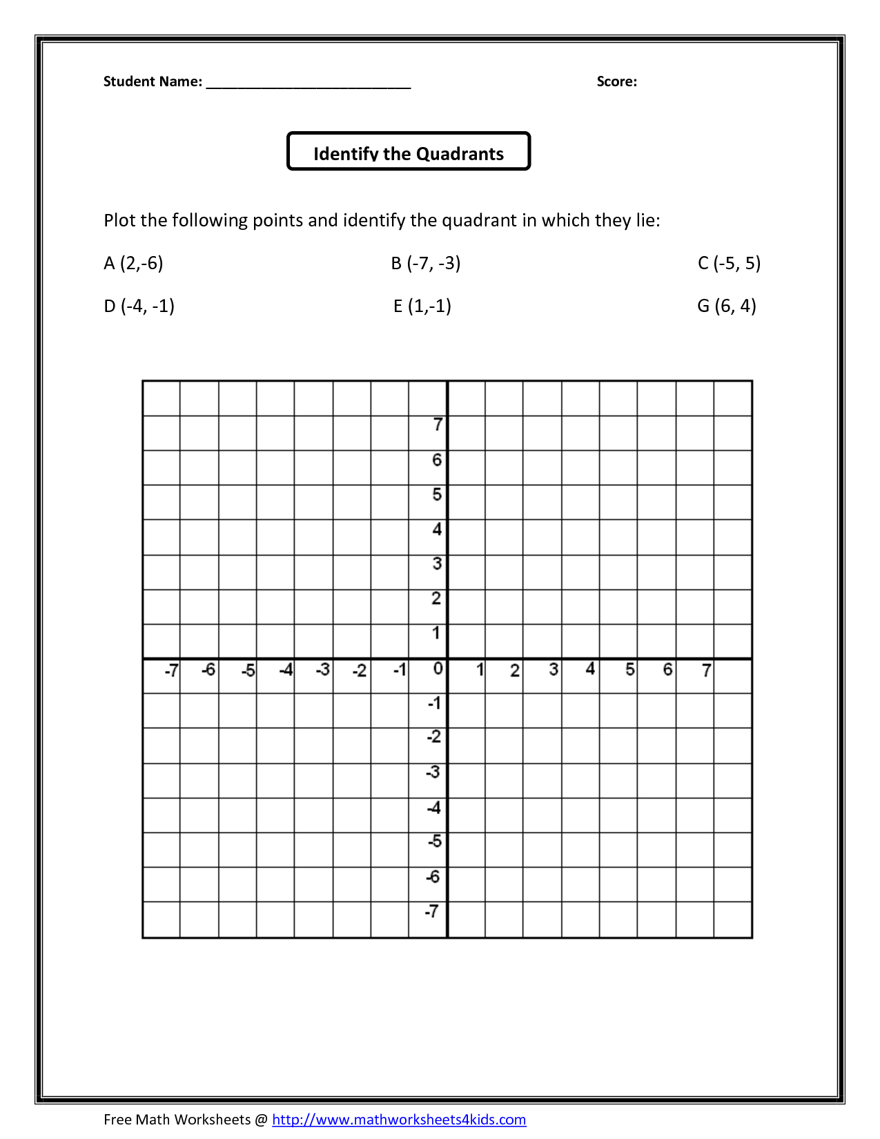 Math : Coordinate Plane Grid Coordinate Template 0 To 12 2 - Free Printable Coordinate Grid Worksheets