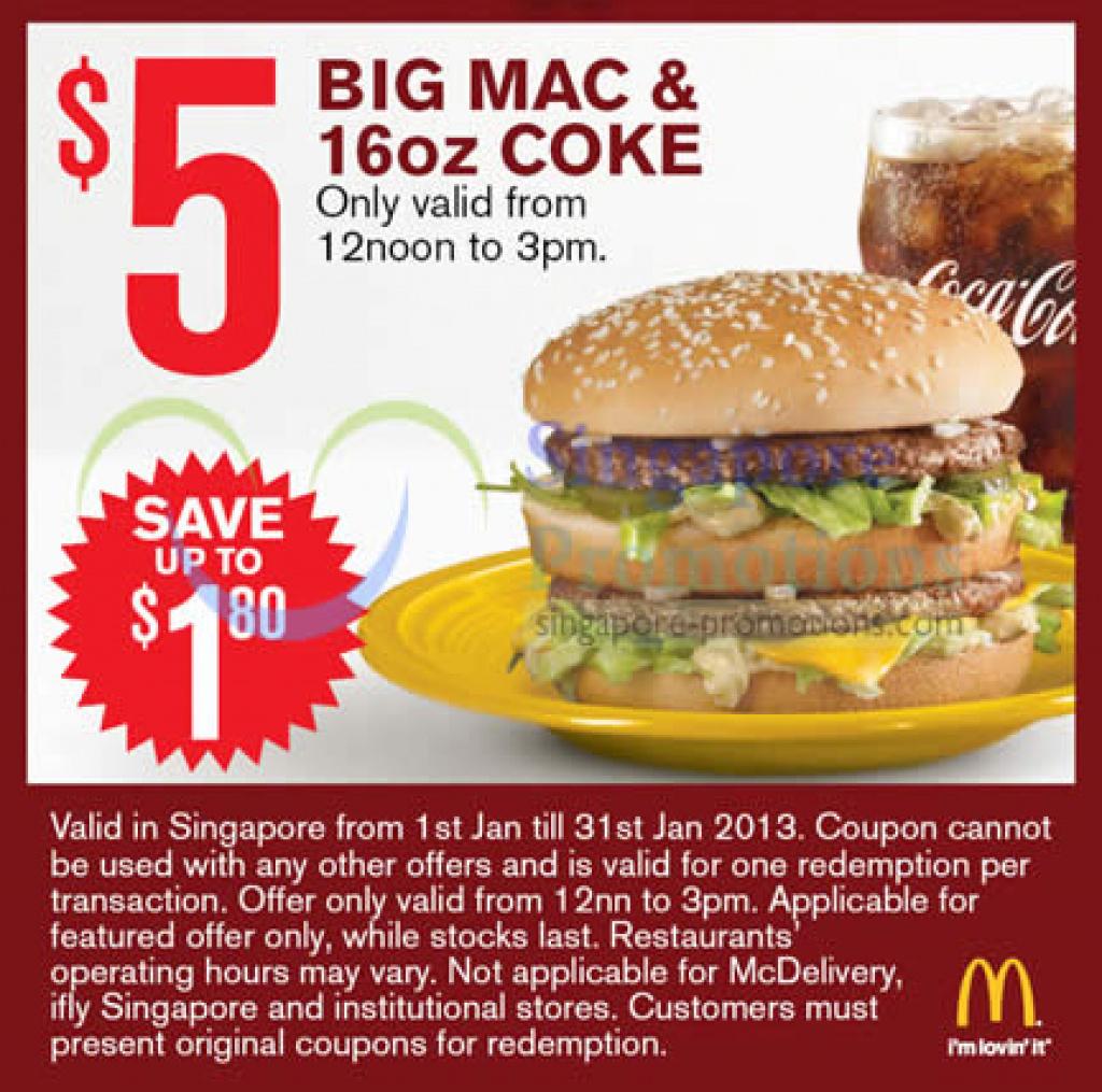 Mcdonalds Big Mac Coupon | Printable Coupons Online Within Free - Free Printable Mcdonalds Coupons Online