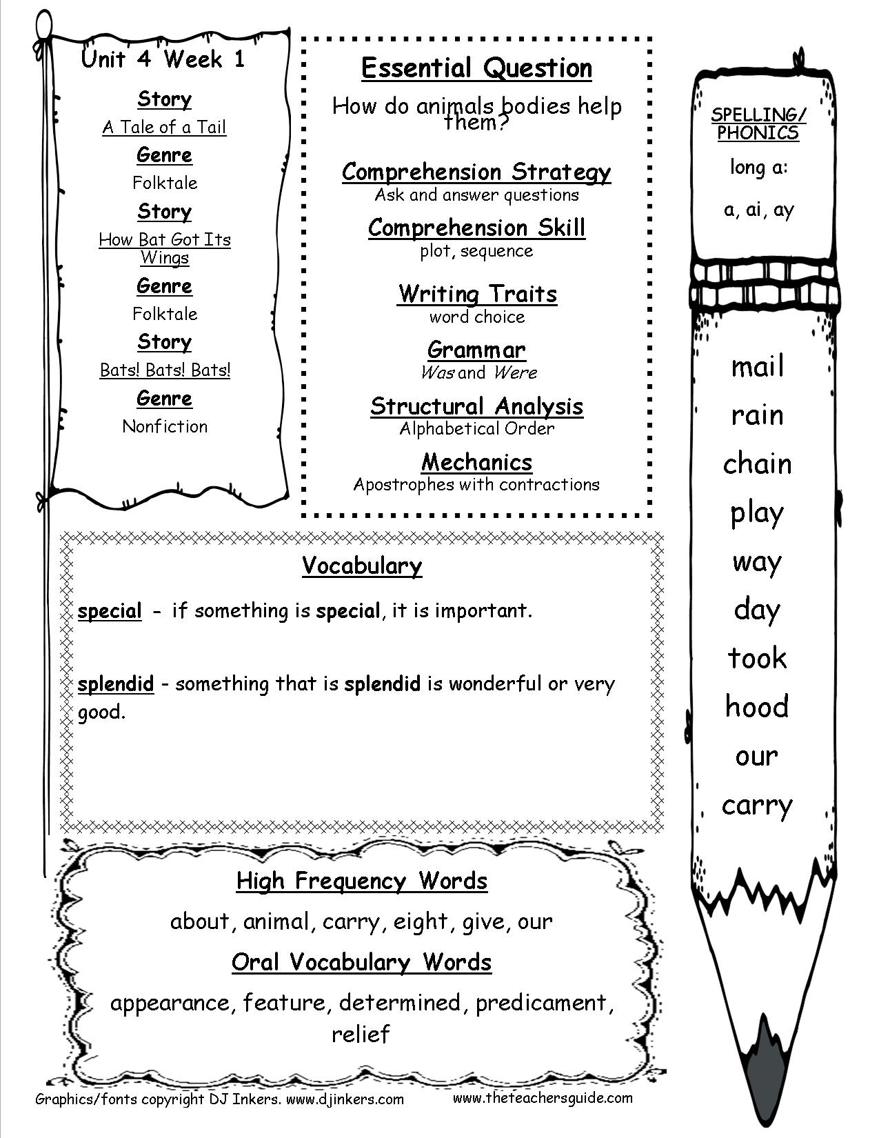 Mcgraw-Hill Wonders First Grade Resources And Printouts - Social Studies Worksheets First Grade Free Printable