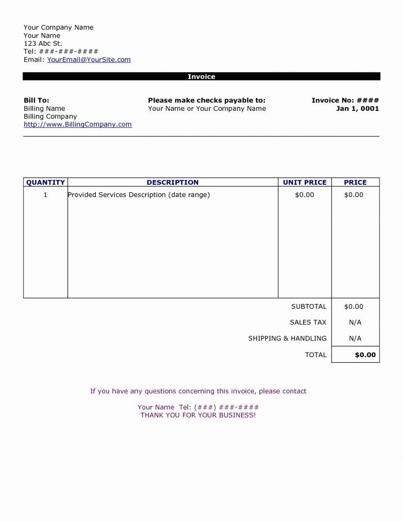 Medical Invoice Template Free Receipt Word Bill Excel Records - Invoice Templates Printable Free Word Doc