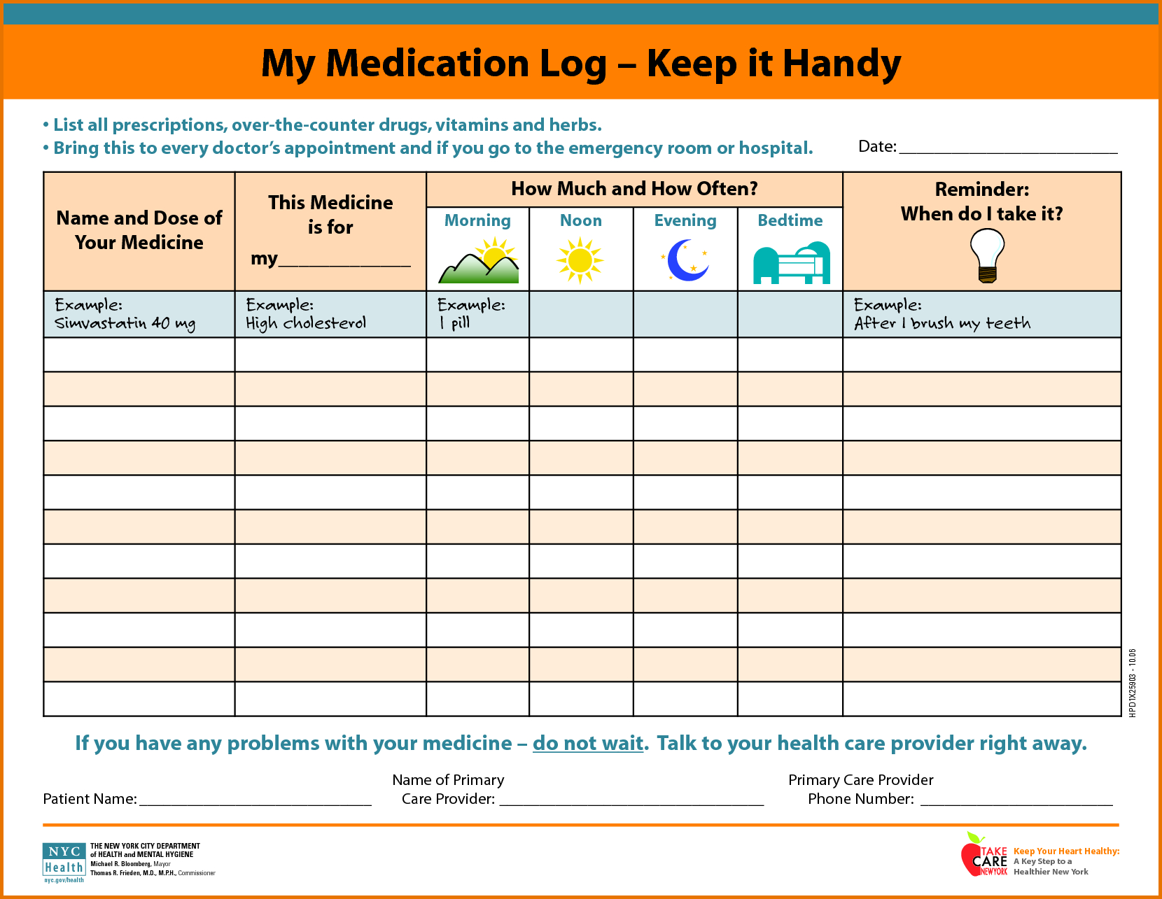 Medication Schedule | Mom | Daily Schedule Template, Medication Log - Free Printable Daily Medication Chart
