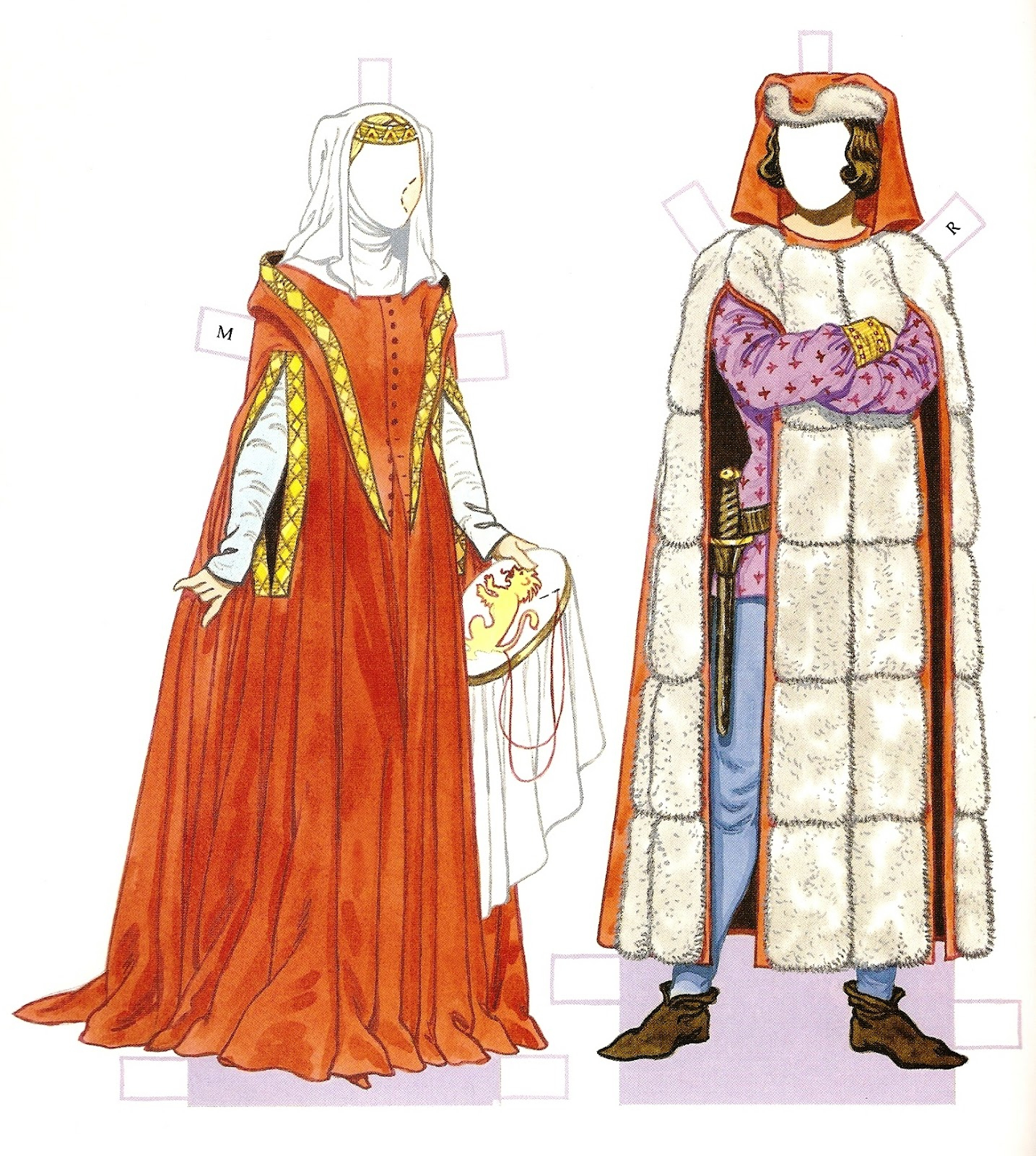 Medieval Paper Dolls Printable   Download Them Or Print - Medieval Paper Dolls Free Printable