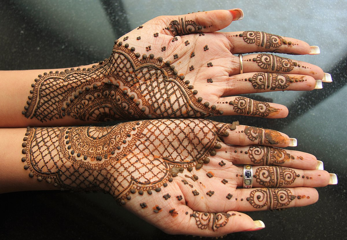 Mehndi - Wikipedia - Free Printable Henna Tattoo Designs