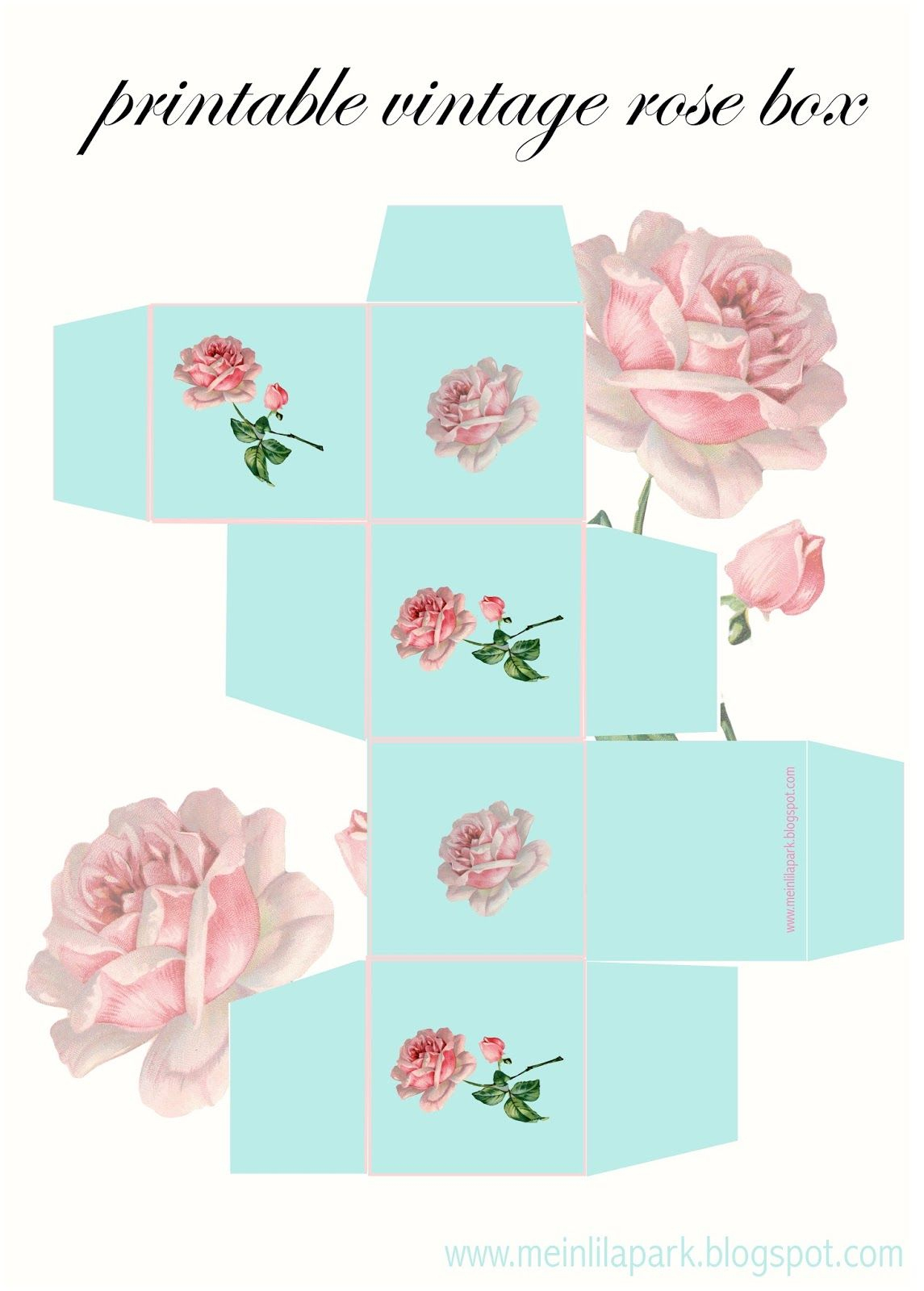 Meinlilapark – Diy Printables And Downloads: Free Printable Vintage - Free Printable Gift Boxes
