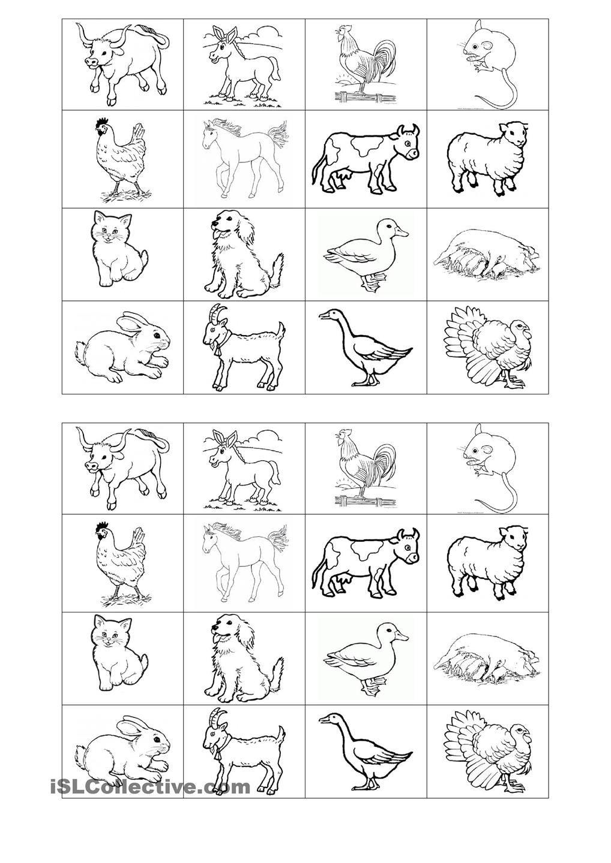 Memory Game On Farm Animals | Free Esl Printable Worksheets - Free Printable Memory Exercises