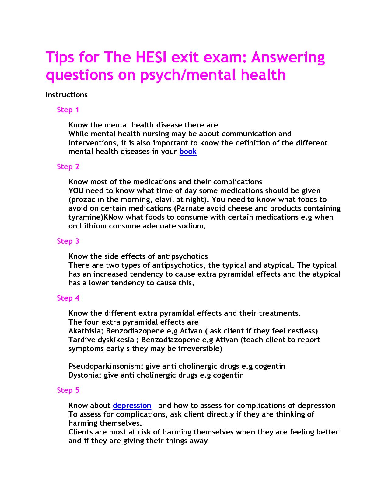 Mental Health Hesi Study Guide   Nursing   Pinterest   Mental Health - Free Printable Hesi Study Guide