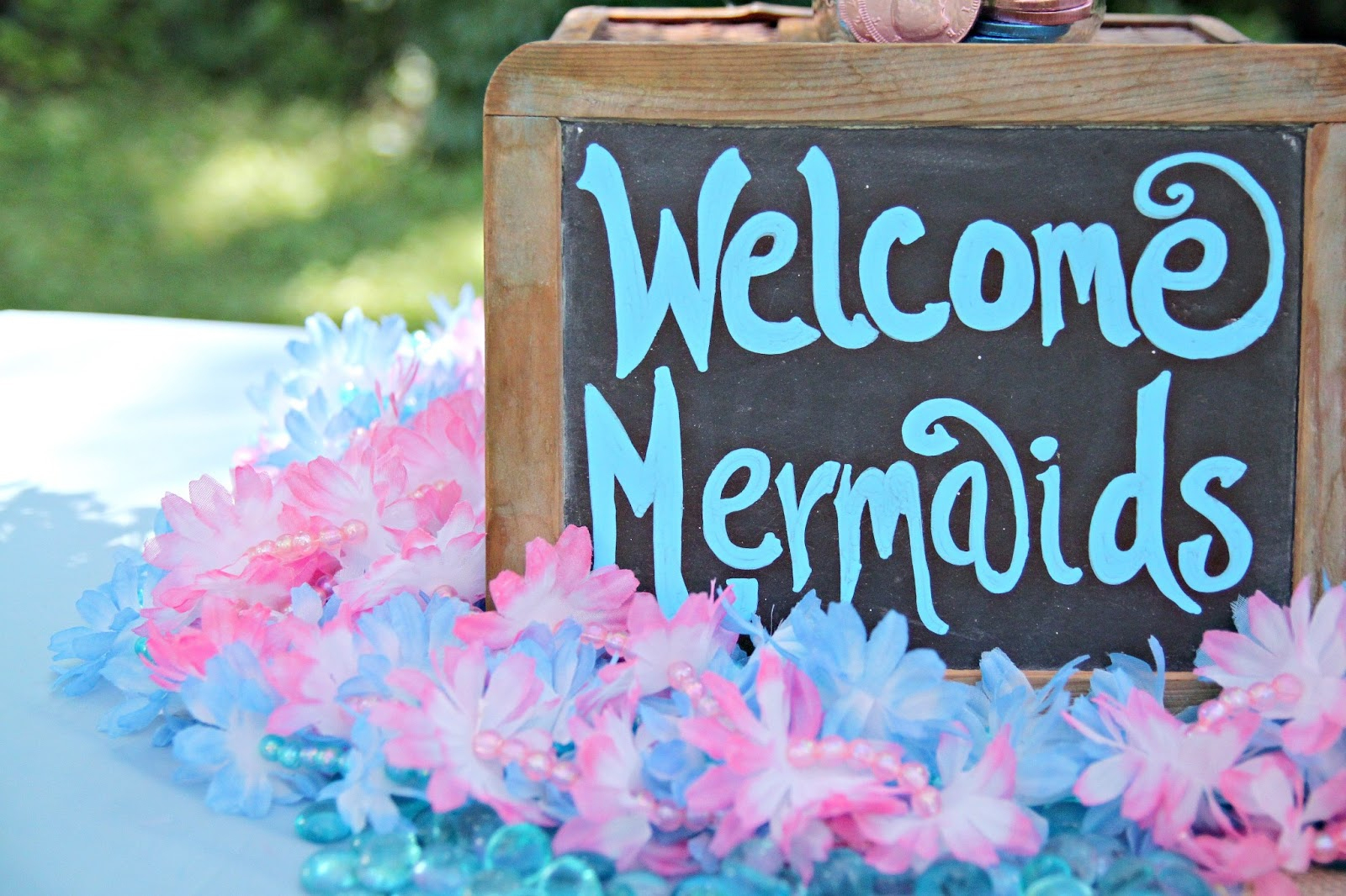 Mermaid Under The Sea 4Th Birthday Party With Free Printable - The - Free Printable Little Mermaid Birthday Banner