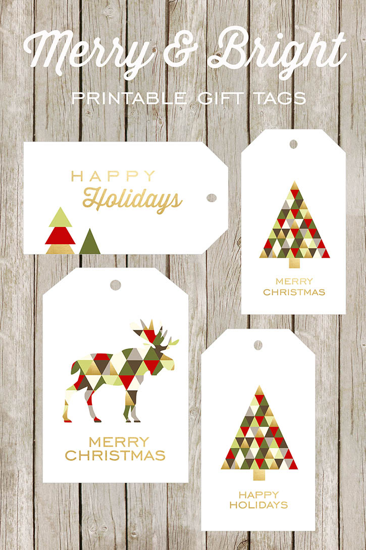 Free Printable Happy Holidays Gift Tags