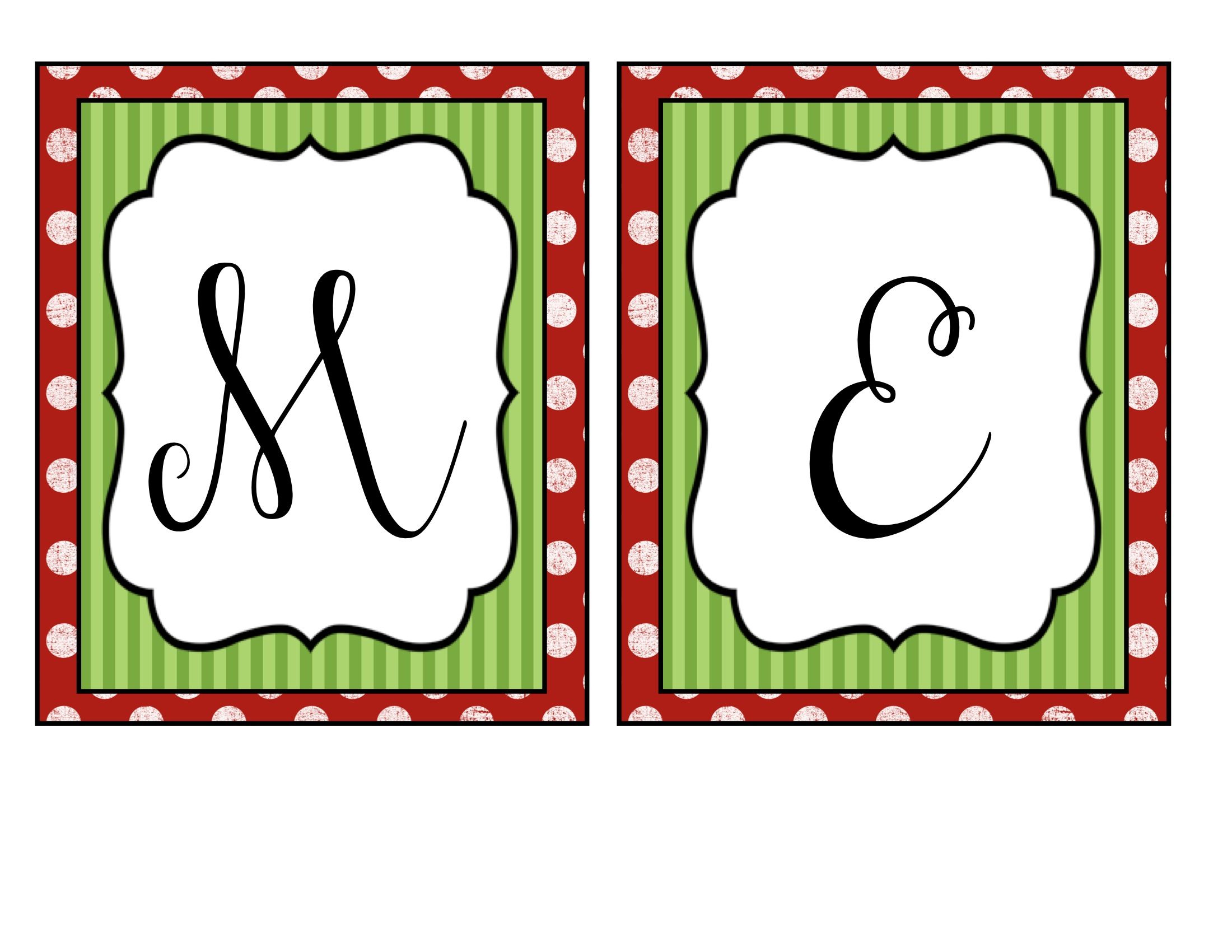 Merry Christmas Banner | Holidays | Merry Christmas Banner - Free Printable Christmas Letters