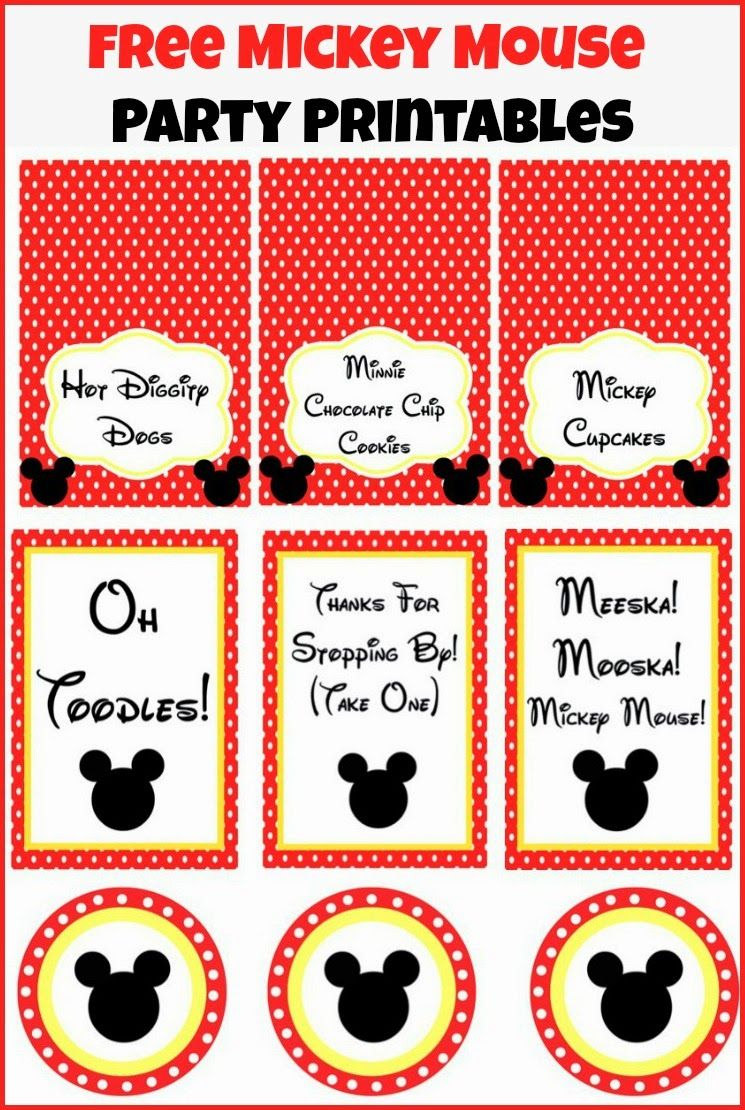 Mickey Mouse Clubhouse Party Ideas And Free Party Printables | Party - Free Printable Mickey Mouse Decorations