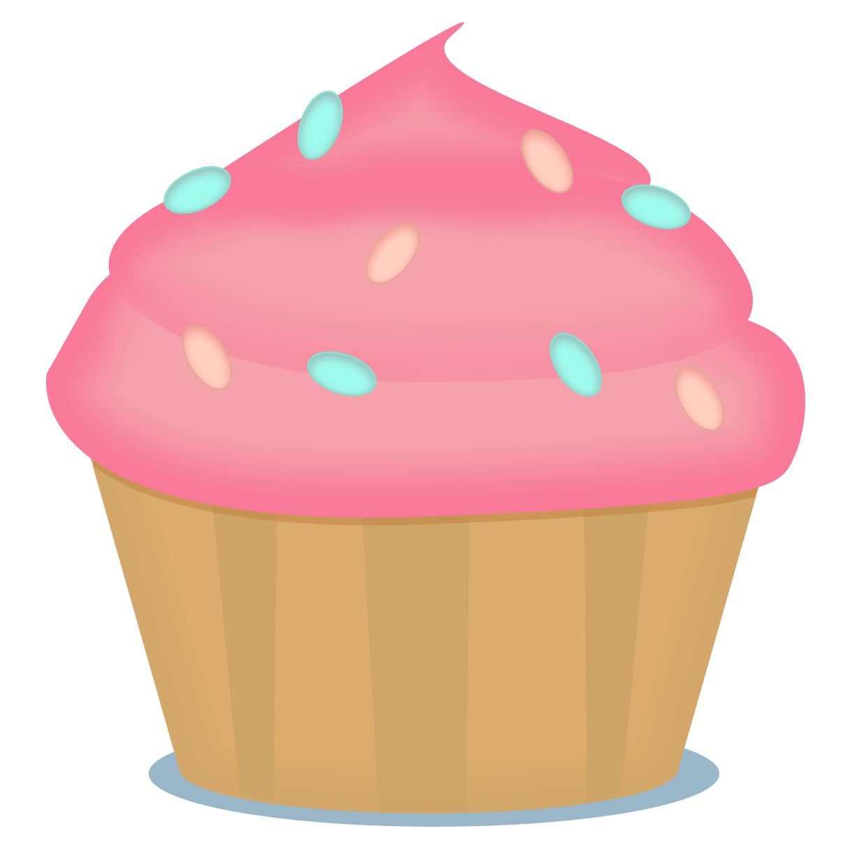 Microsoft Free Cupcakes Clipart - Free Printable Cupcake Clipart