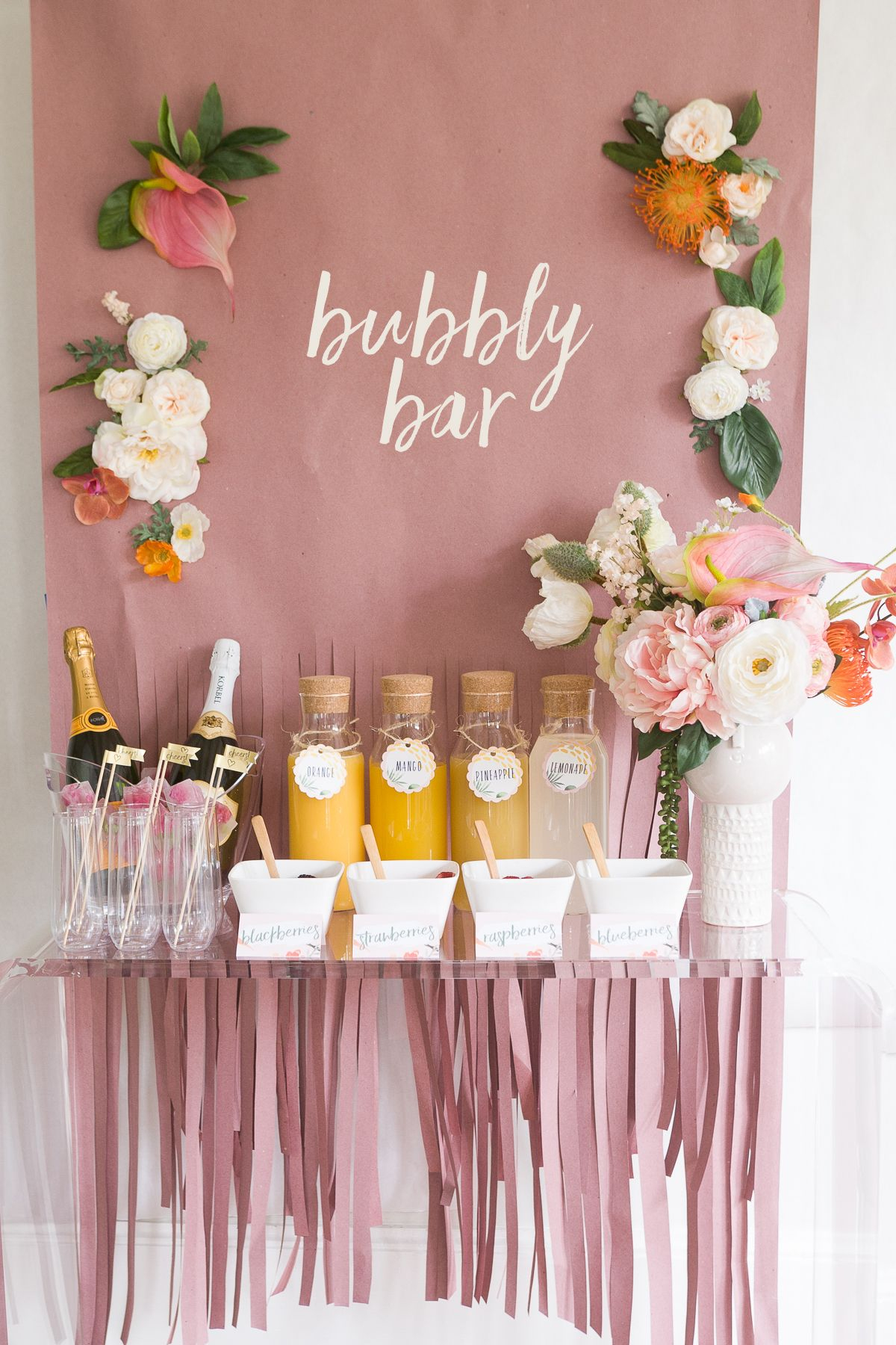 Mimosa Bar Bridal Shower Brunch With Free Printables!   Cuz We Like - Free Bridal Shower Printable Decorations
