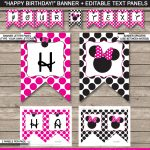 Minnie Mouse Party Banner Template | Birthday Banner | Editable - Free Printable Minnie Mouse Birthday Banner