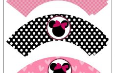 Minnie Mouse Printable Cupcake Wrappers | -♥- Parties: Mickey Mouse – Free Printable Minnie Mouse Cupcake Wrappers