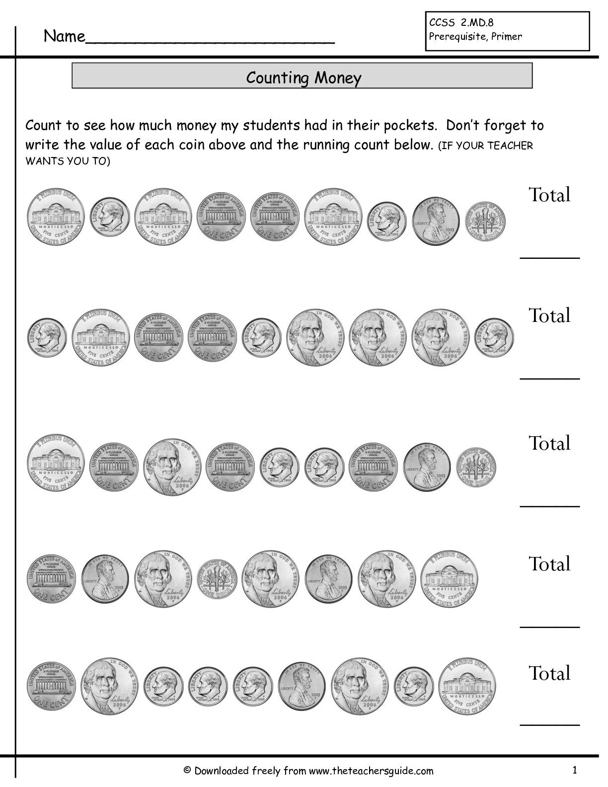 Mixed Coins Worksheet | Counting Coins Worksheets Without Quarters 2 - Free Printable Counting Money Worksheets For 2Nd Grade