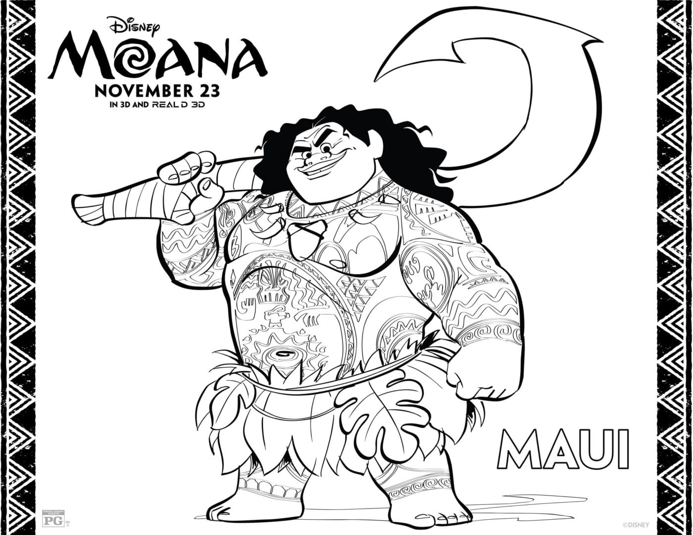 Moana Coloring Pages | Free Disney Coloring Pages | Disney Activity Page - Moana Coloring Pages Free Printable