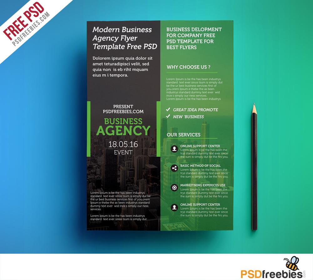 Modern Business Agency Flyer Template Free Psd   Psdfreebies - Business Flyer Templates Free Printable