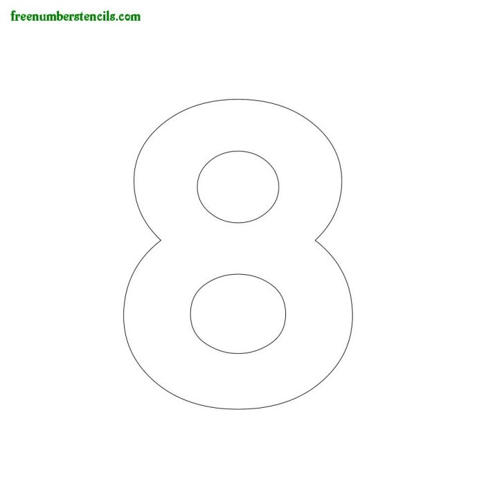 Free Printable 5 Inch Number Stencils