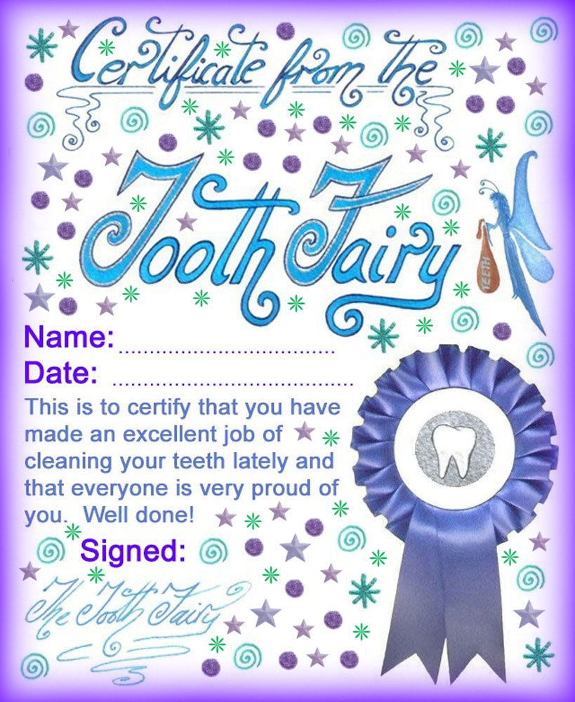 Modern Tooth Fairy Certificates   Rooftop Post Printables - Free Printable Tooth Fairy Certificate