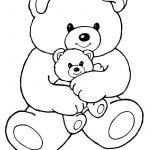Mom And Baby Bear | Print. Color. Fun! Free Printables, Coloring   Teddy Bear Coloring Pages Free Printable