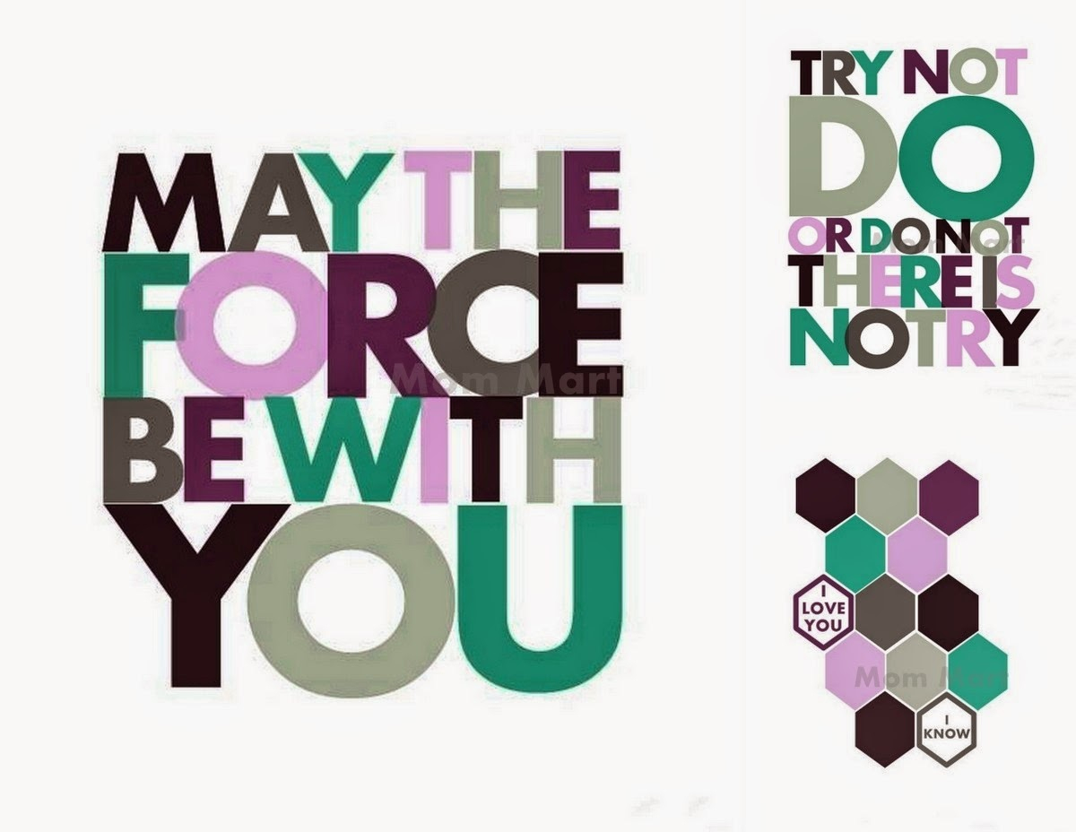 Mom Mart: Star Wars Wall Art Free Printables #freeprintable - May The Force Be With You Free Printable