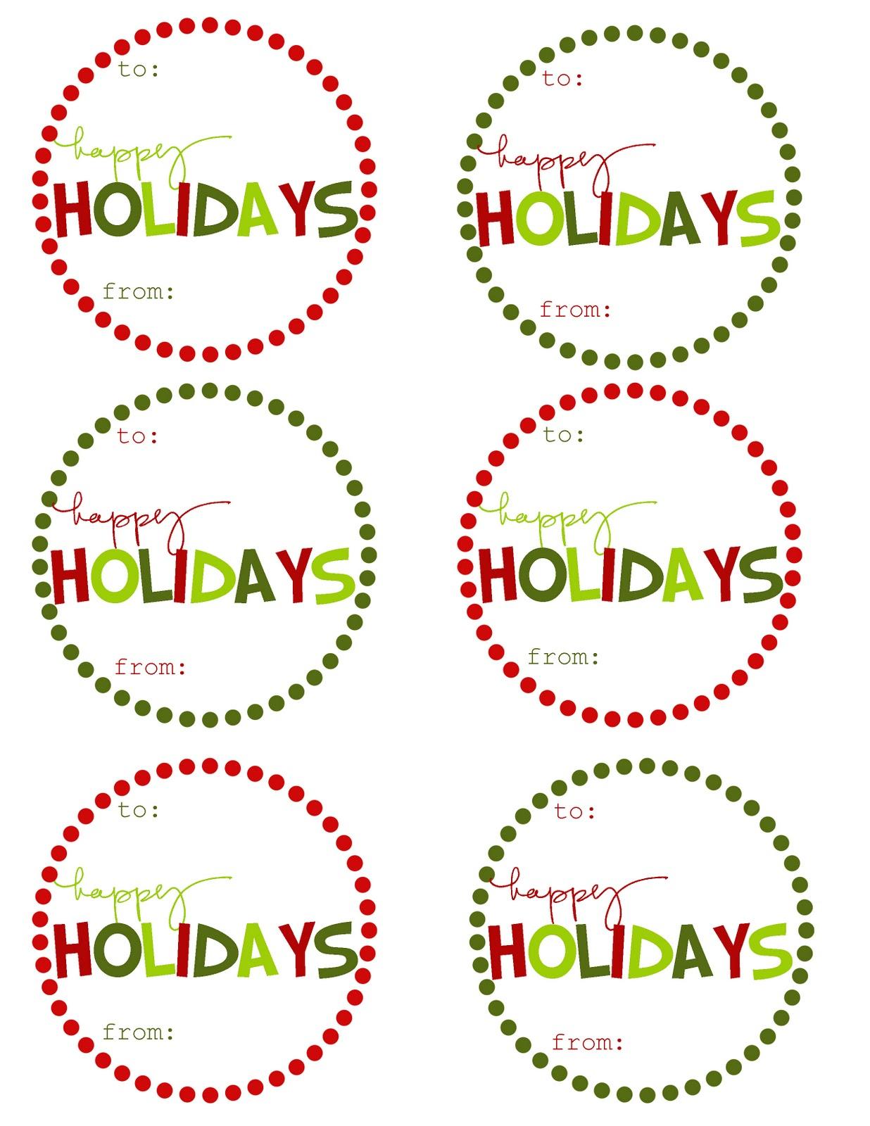 Mommyday Crafternight: {Free Printable} Christmas Gift Tags - Free Printable Happy Holidays Gift Tags