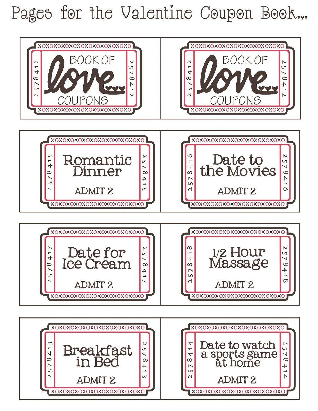 Mommyday Crafternight: {Free Printable} Valentine Coupon - Free Printable Coupon Book For Boyfriend