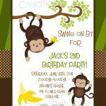 Monkey Birthday Invitation Monkey Birthday Party Invitation   Free Printable Monkey Birthday Party Invitations