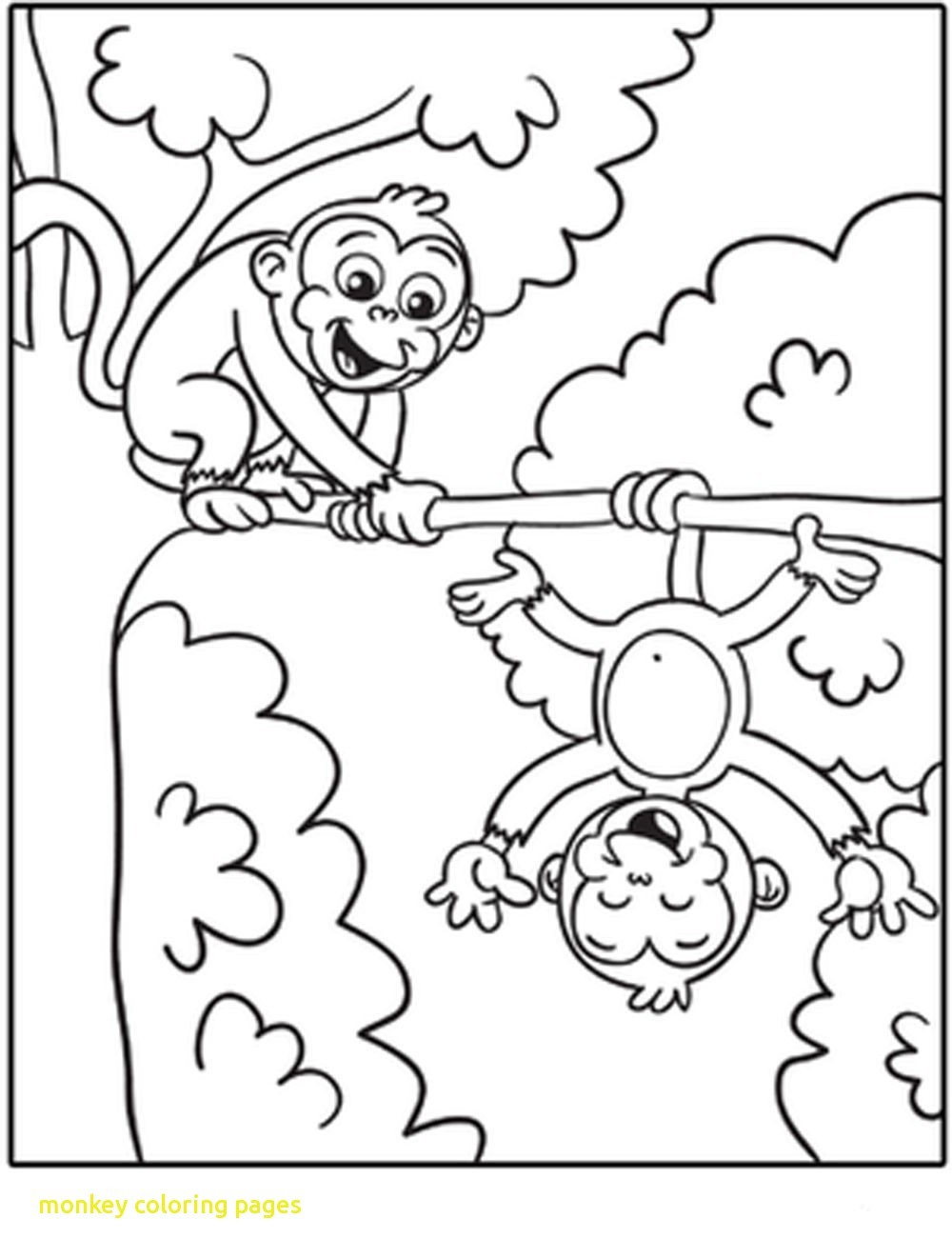 Monkey Coloring Pages 4 #29452 - Free Printable Monkey Coloring Sheets