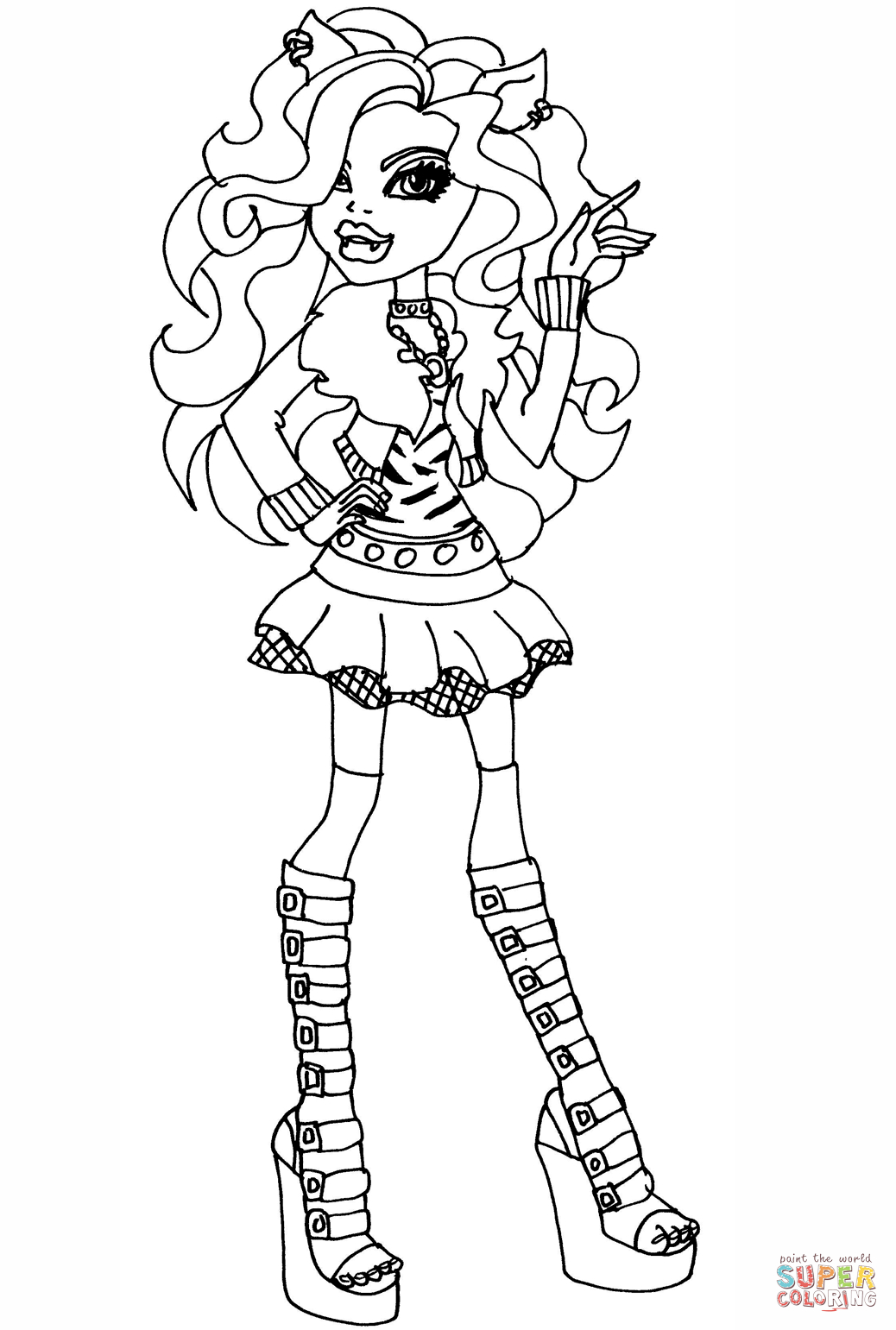 Monster High Clawdeen Wolf Coloring Page | Free Printable Coloring Pages - Monster High Free Printable Pictures