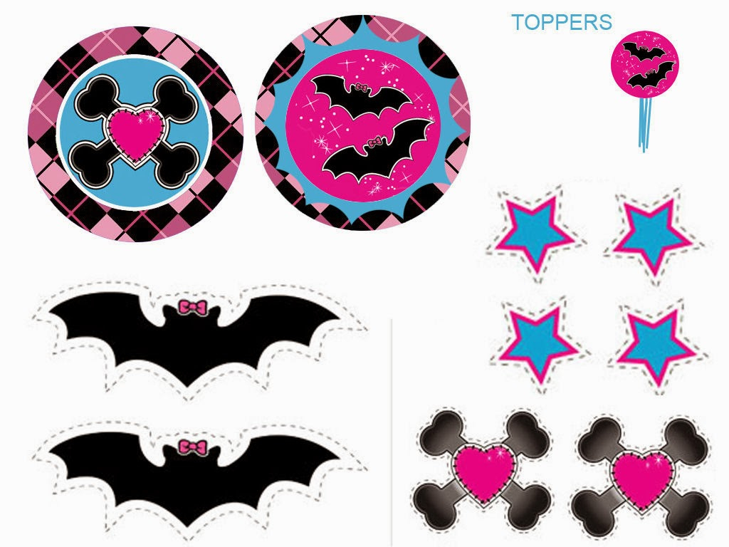 Monster High: Free Printable Labels And Toppers. | Oh My Fiesta! In - Monster High Cupcake Toppers Printable Free