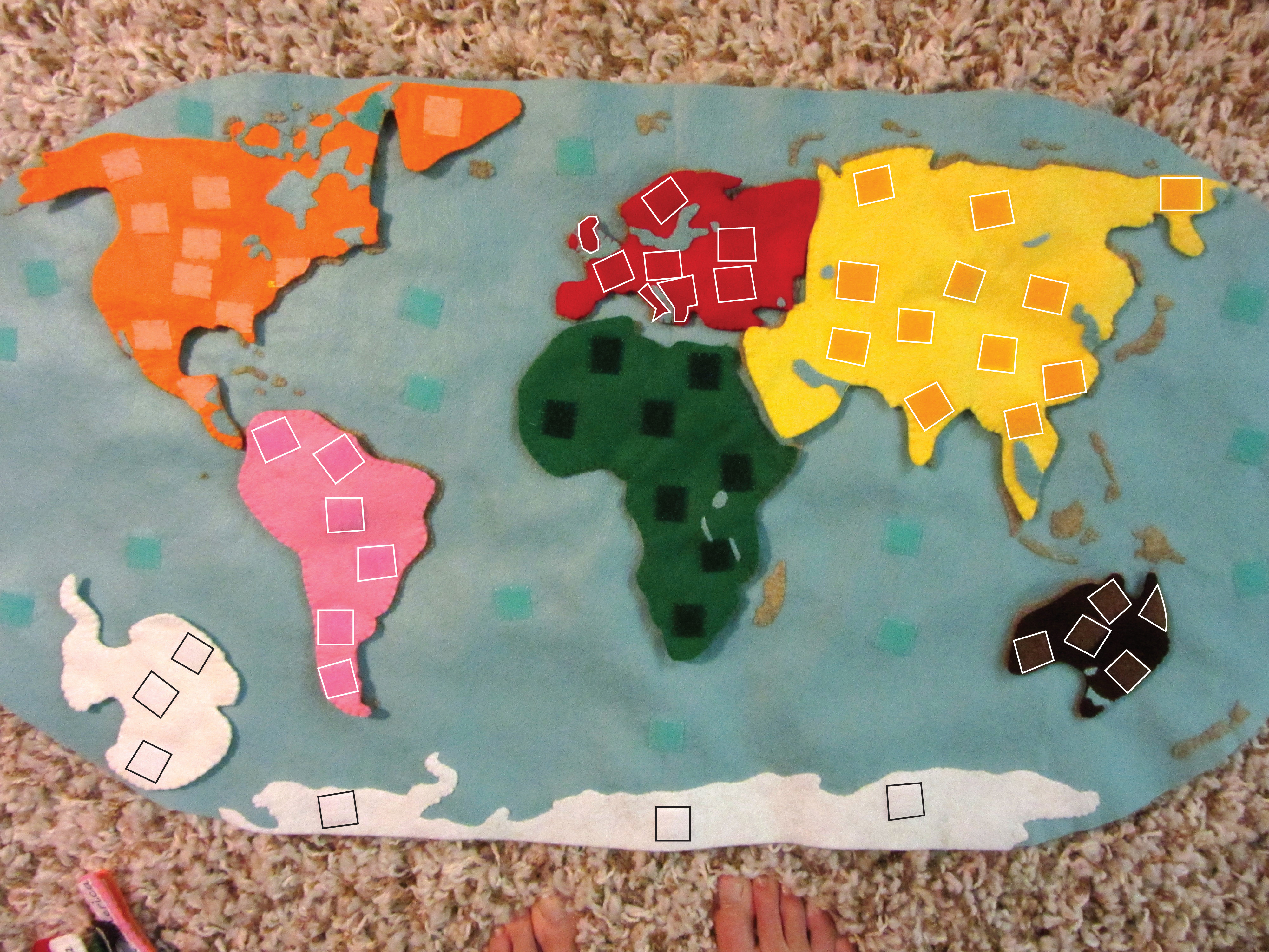 Montessori Continents Map & Quietbook With 3-Part Cards | Imagine - Montessori World Map Free Printable