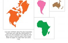 Montessori World Map And Continents – Gift Of Curiosity – Montessori World Map Free Printable